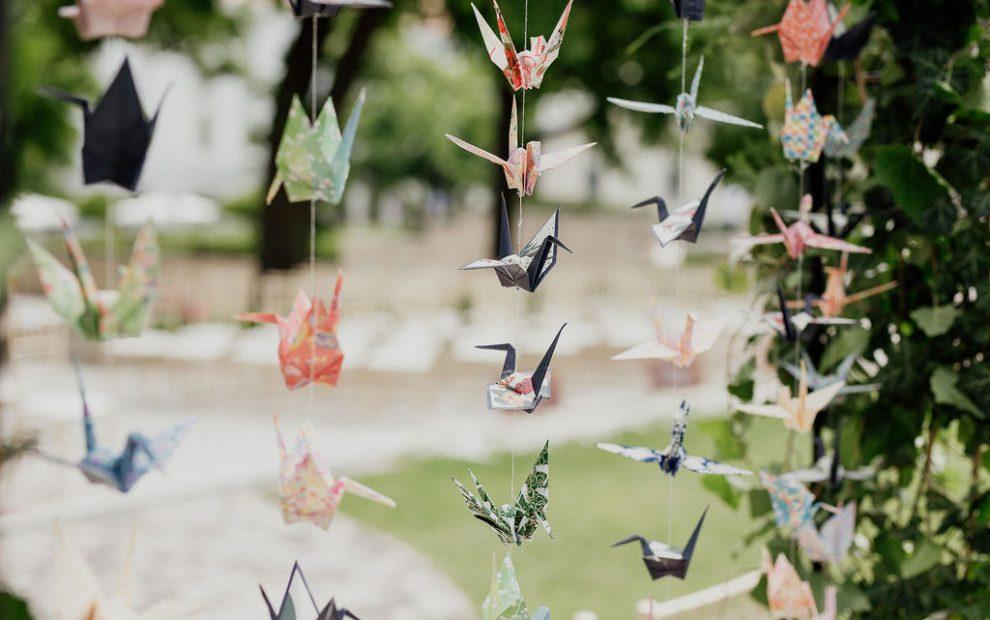Origami dekoráció