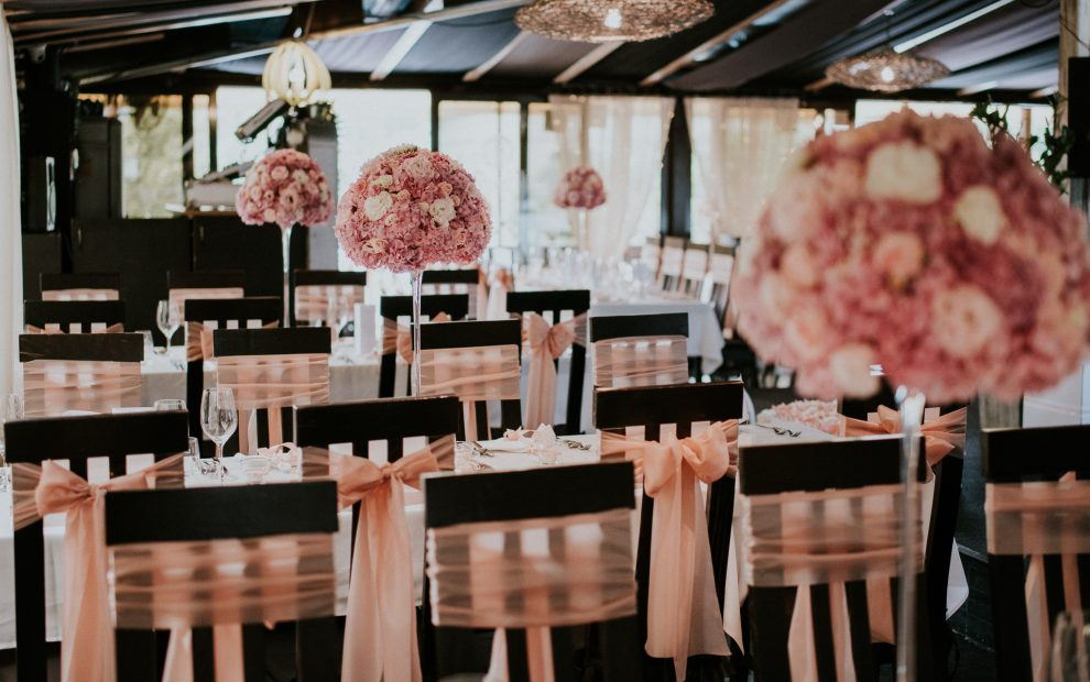 Rózsaszín beltéri dekoráció